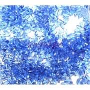 Кабошоны 2,5x5 рисинки из голубого стекла