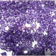 Кабошоны 2,5x5 рисинки из фиолетового стекла