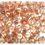 Кабошоны 10x13 капли из оранжевого стекла