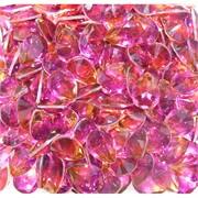 Кабошоны 10x13 капли из розового стекла