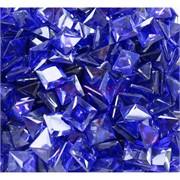 Кабошоны 10x10 квадратные из синего стекла