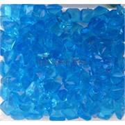 Кабошоны 10x10 квадратные из голубого стекла