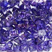 Кабошоны 10x10 квадратные из фиолетового стекла