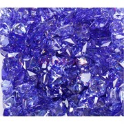 Кабошоны 10x10 квадратные из светло-синего стекла