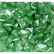 Кабошоны 10x14 прямоугольные из зеленого стекла