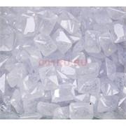Кабошоны 10x14 прямоугольные из белого стекла