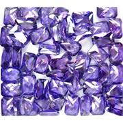Кабошоны 10x14 прямоугольные из стекла фиолетового цвета