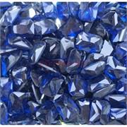 Кабошоны 10x14 прямоугольные из стекла темно-синего цвета