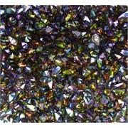 Кабошоны 4x6 зернышки из цветного стекла