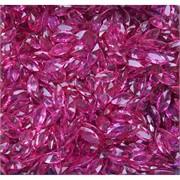 Кабошоны 5x10 челнок граненый из ярко-розового стекла
