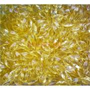Кабошоны 5x10 челнок граненый из желтого стекла