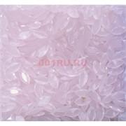 Кабошоны 5x10 челнок граненый из розового стекла