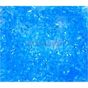 Кабошоны 4x8 челнок граненый из голубого стекла