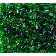 Кабошоны 4x8 челнок граненый из темно-зеленого стекла