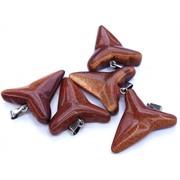 Подвеска для кулона «трилистник» из коричневого авантюрина