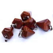 Подвески шестиугольные 4 см из коричневого авантюрина