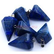 Подвески шестиугольные 4 см из синего лазурита