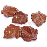 Подвески лист из коричневого авантюрина