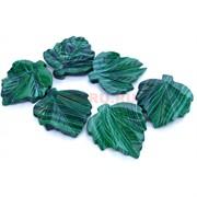 Подвески лист из малахита
