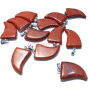 Подвеска «Клык» из красной яшмы 3 см