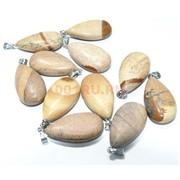 Подвеска «семечка» 4 см из песочной яшмы