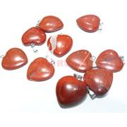 Подвеска «Сердце» 3 см из красной яшмы