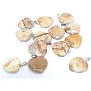 Подвеска «Сердце» 3 см из песочной яшмы