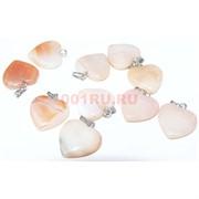 Подвеска «Сердце» 3 см из оранжевого агата
