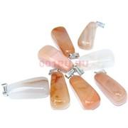 Подвеска «Трапеция» 3 см из оранжевого халцедона