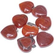 Подвеска «Сердце» 2,2 см из сердолика