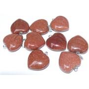 Подвеска «Сердце» 2,6 см из коричневого авантюрина