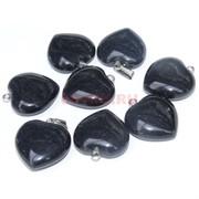 Подвеска «Сердце» 2,6 см из черного агата