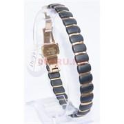 Мужской браслет (P-885) из черной матовой керамики под золото