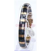 Мужской браслет (P-890) из черной керамики под золото