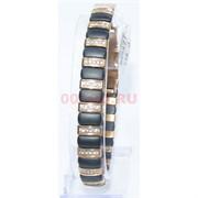 Мужской браслет (P-891) из черной матовой керамики под золото