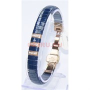 Мужской браслет (P-887) из синей керамики под золото