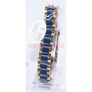 Мужской браслет (P-893) из синей керамики под золото