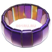 Браслет 2,5x0,2 см из гематита фиолетового