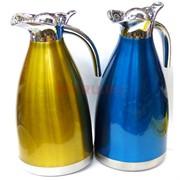 Термос-чайник из нержавеющей стали 2 литра цвета в ассортименте 29 см