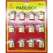 Набор металлических замков с ключами 20 мм Aarp Padlock 12 шт/уп