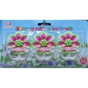 Пластиковые крючки Цветочек 3 шт/уп