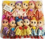 Брелок (KL-398) куколка с прической, цена за 120 шт (1200 шт/кор)