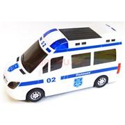 Машинка музыкальная со световыми эффектом Полиция 8 см