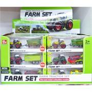 Набор тракторов Farm Set 24 шт/уп из металла