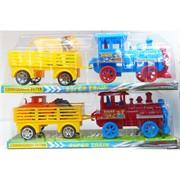 Игрушечный паровоз с вагоном цвета в ассортименте