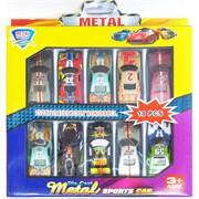 Набор игрушечных машинок Metal Sports Car 10 шт