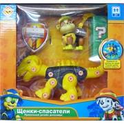 Набор игрушечный Щенки-спасатели с динозаврами