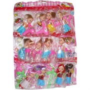Барби на листе с аксессуарами 12 шт/уп
