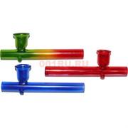 Трубка курительная стеклянная цветная 9 см