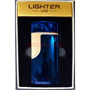 Зажигалка USB разрядная Lighter цвета в ассортименте